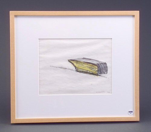 Robert Grosvenor, Untitled, 1980, graphite and crayon on paper, 8