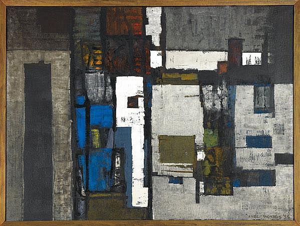 Carl Morris (American, 1911-1993) Bridge Tower,
