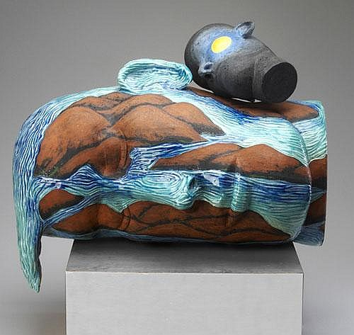 MICHAEL LUCERO Hand-built, carved, and glazed