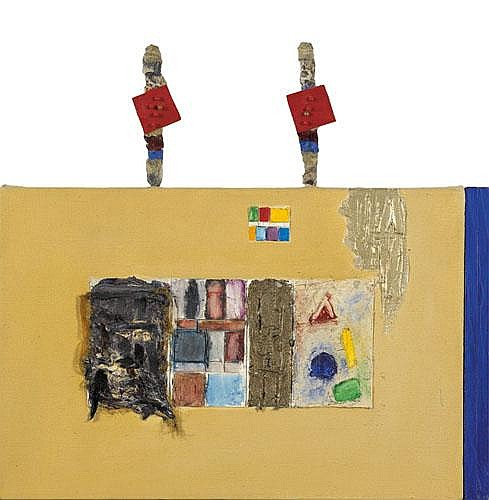Joan Snyder (American, b. 1940) Study with Totems,