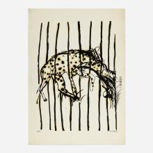 Brett Whiteley, 6. Hyena (from the My Relationship between Screenprinting and Regent's Park Zoo between June and August 1965 series)