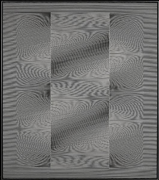 Julian Stanczak (Polish/American, b. 1928) Unrestful Space, 1966