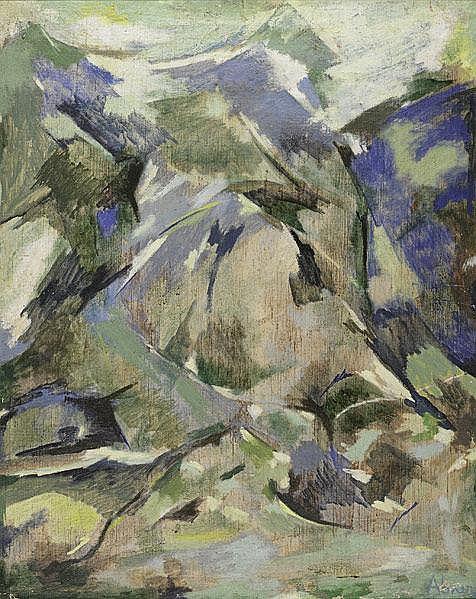 Raymond Abner (American, 1924 - 1999) Paysage de Montagne
