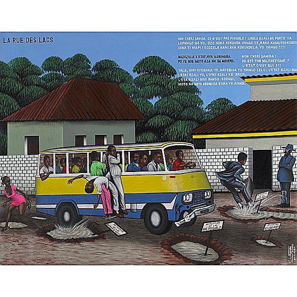 Cheri Samba (Congolese, b. 1956) La Rue des Lacs,