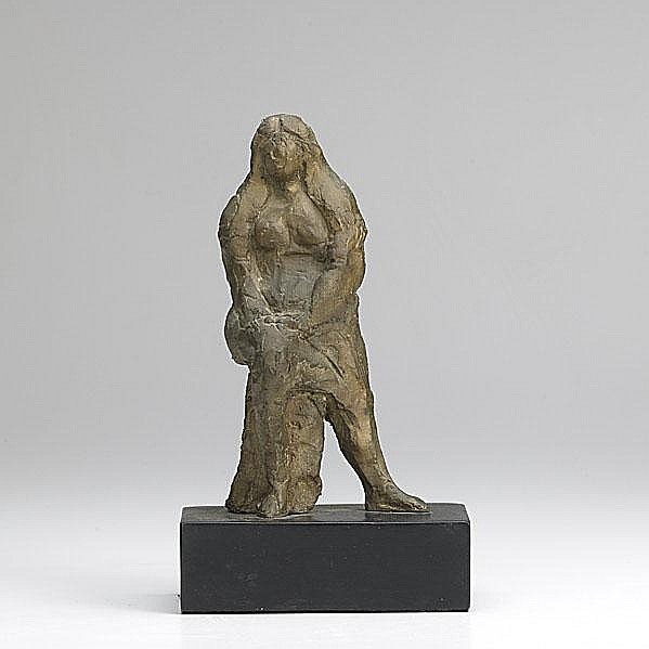 JAMES KEARNS; Untitled (Standing Female Nude and