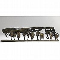 BARBARA CHASE-RIBOUD; The Last Supper; Bronze; 7