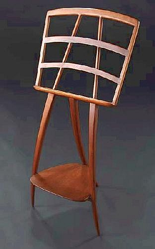 WHARTON ESHERICK Music stand in carved cherry on t
