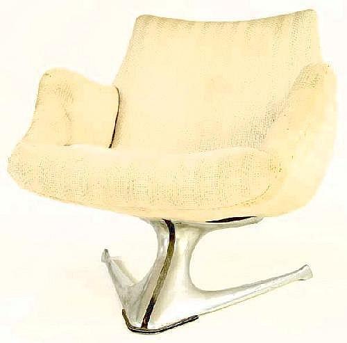 VLADIMIR KAGAN Early Unicorn chair with original f
