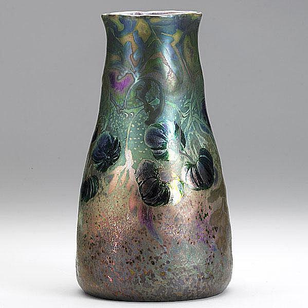 CLEMENT MASSIER; Vase with lustrous glaze,
