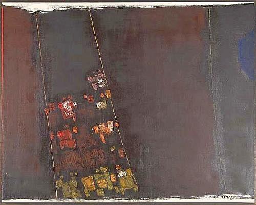 Carl Morris (American, b. 1911) Untitled; Oil on c