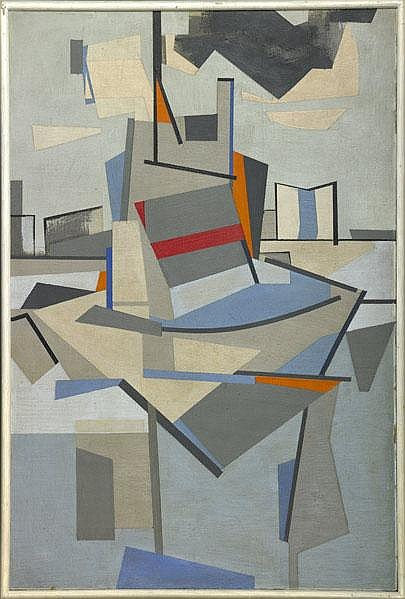 Carl Holty (American, 1900-1973) Untitled, 1943;
