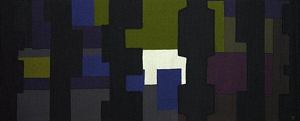 CLAUDE STAHLY; Wool patchwork tapestry; Woven ST,