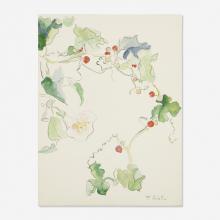 Françoise Gilot, Untitled (flowering vine with berries)