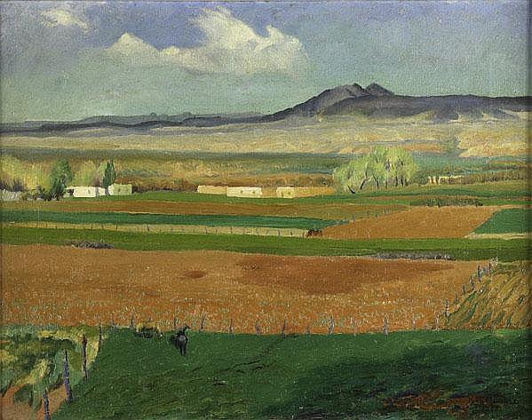 Kenneth Miller Adams (American, 1897-1966) Taos,