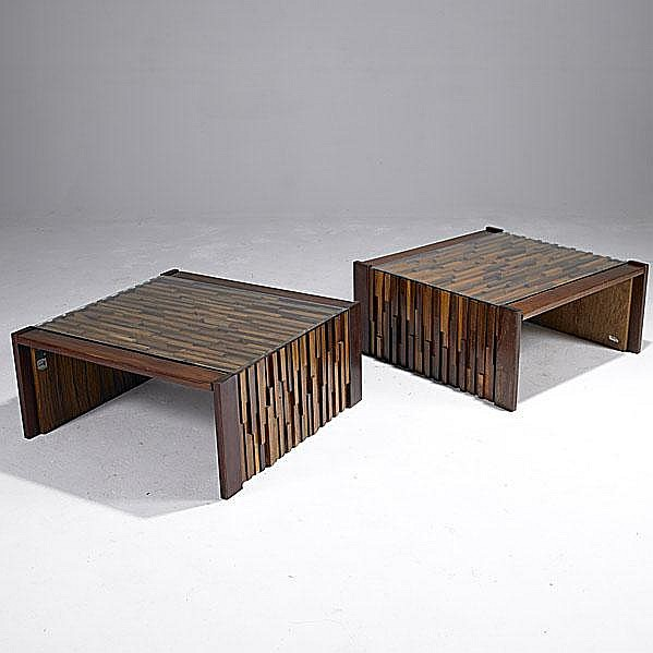 PERCIVAL LAFER Pair of rosewood, jacaranda,
