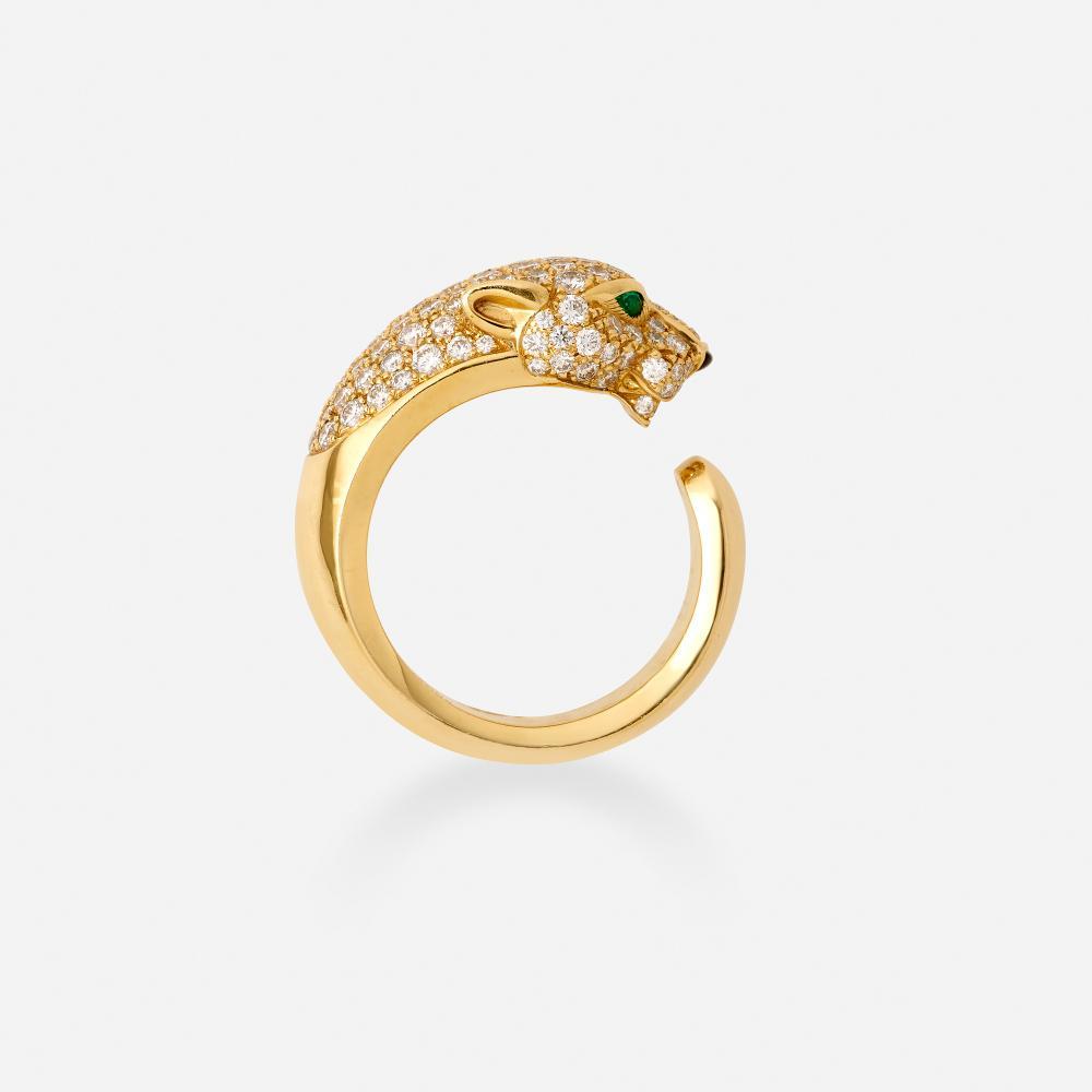 Cartier, 'Panthère de Cartier' diamond and gold ring
