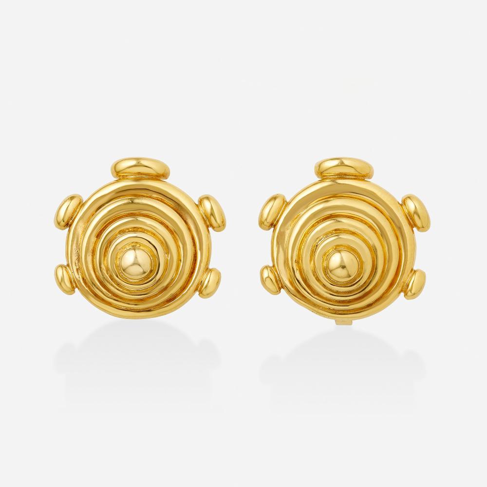 Aldo Cipullo for Cartier, Gold earrings
