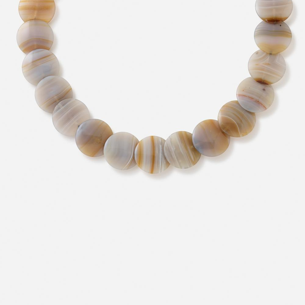 Paloma Picasso for Tiffany & Co., Agate and sterling silver necklace