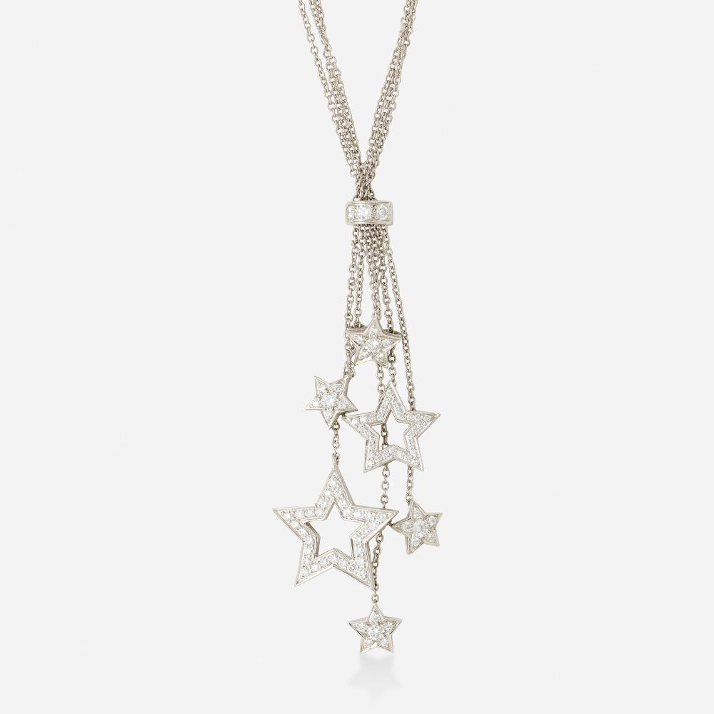 Tiffany & Co., Diamond and platinum star necklace