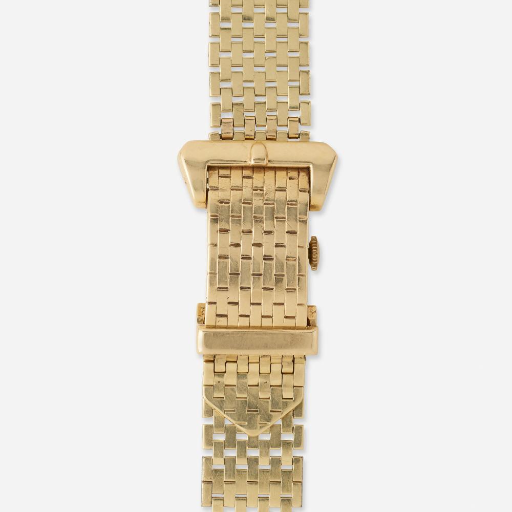 Gold watch bracelet