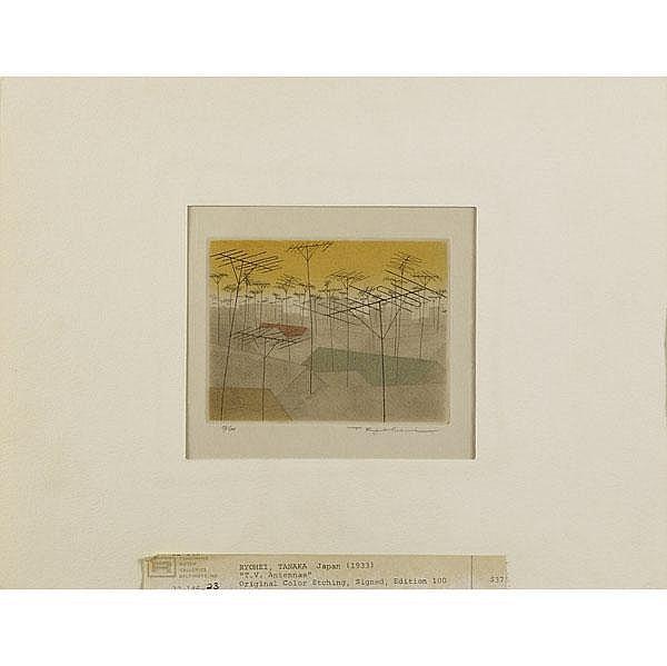Six Japanese prints: Ryohei Tanaka (Japanese, b.