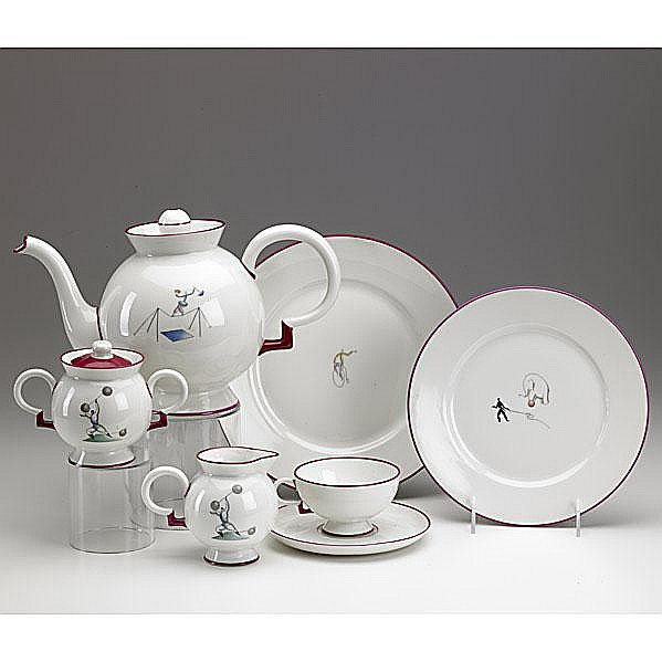 GIO PONTI; RICHARD GINORI; Twenty piece tea set,