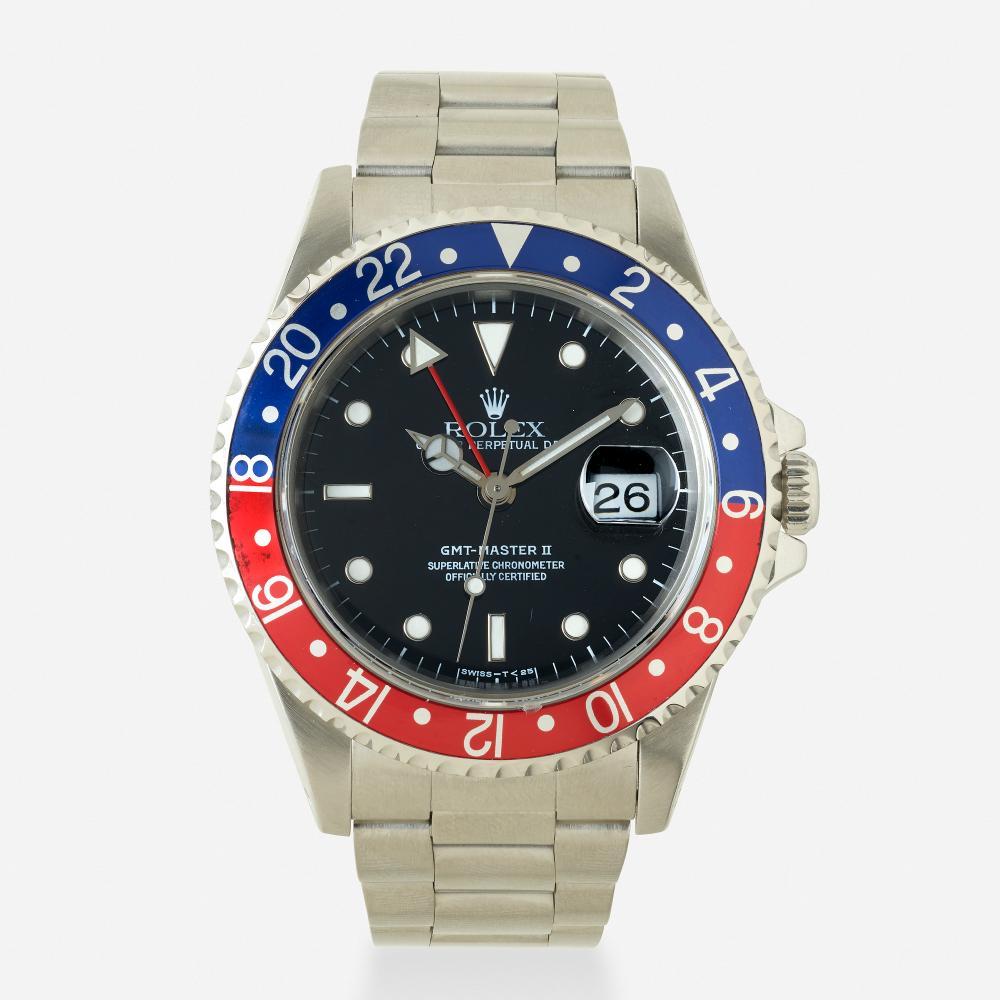 Rolex, 'GMT-Master II Pepsi' stainless steel wristwatch, Ref. 16710