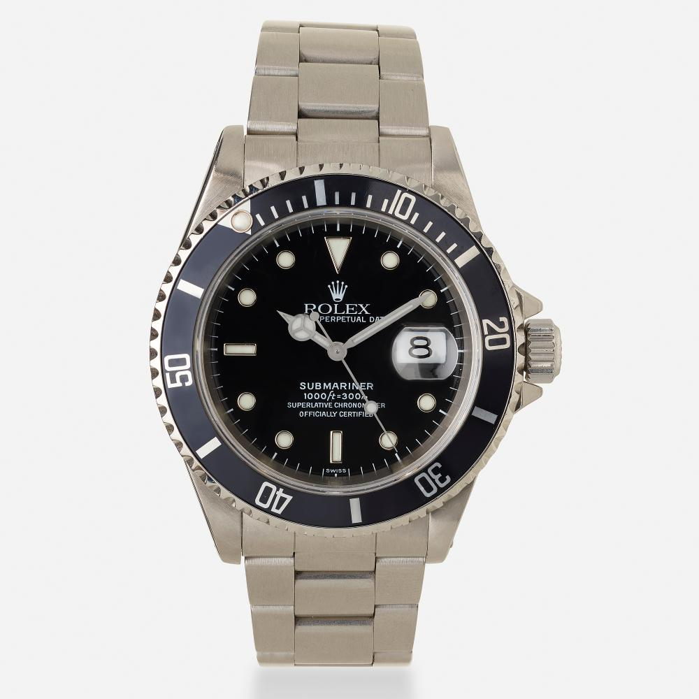 Rolex, 'Oyster Perpetual Date Submariner' stainless steel wristwatch, Ref. 16610