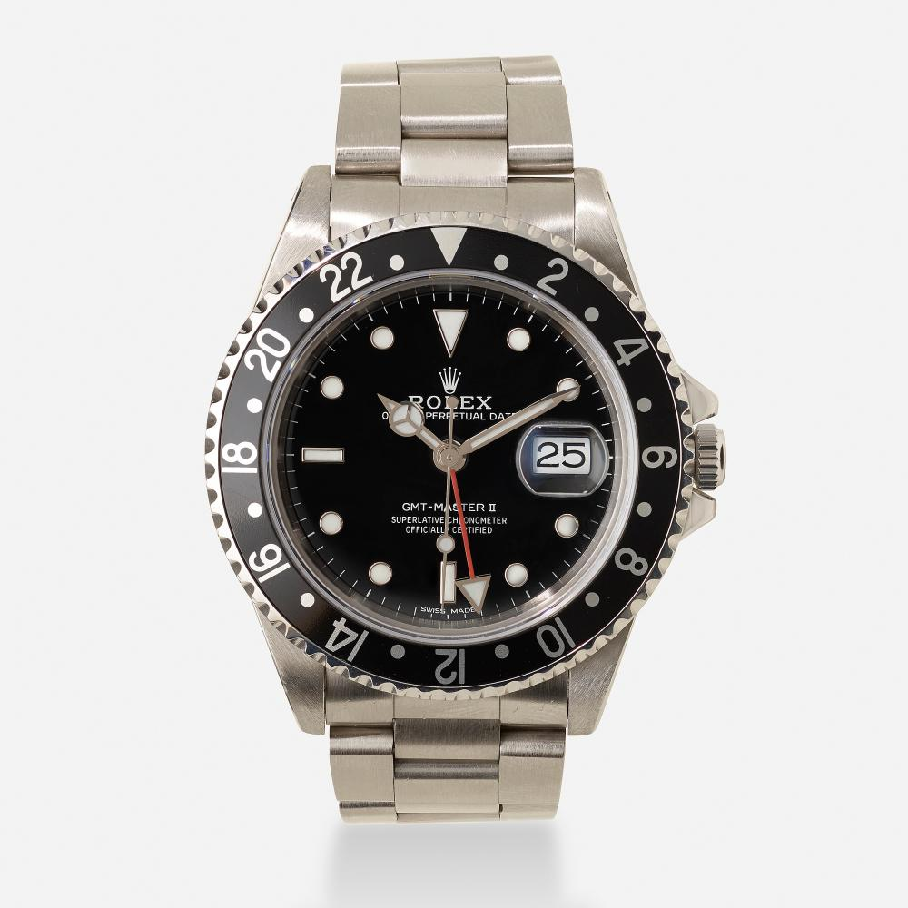 Rolex, 'Oyster Perpetual Date GMT-Master II' stainless steel wristwatch, Ref. 16710