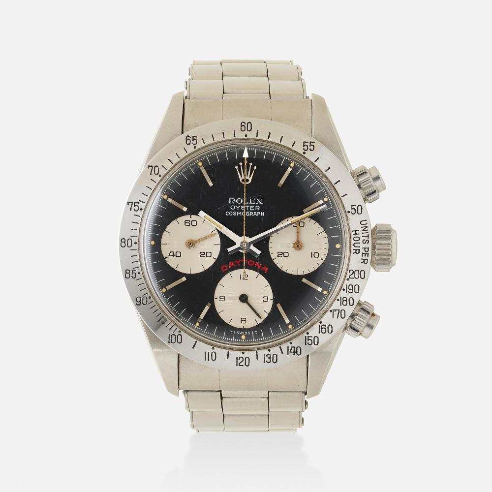 Rolex, Iconic 'Big Red Daytona Cosmograph' stainless steel wristwatch Ref. 6265