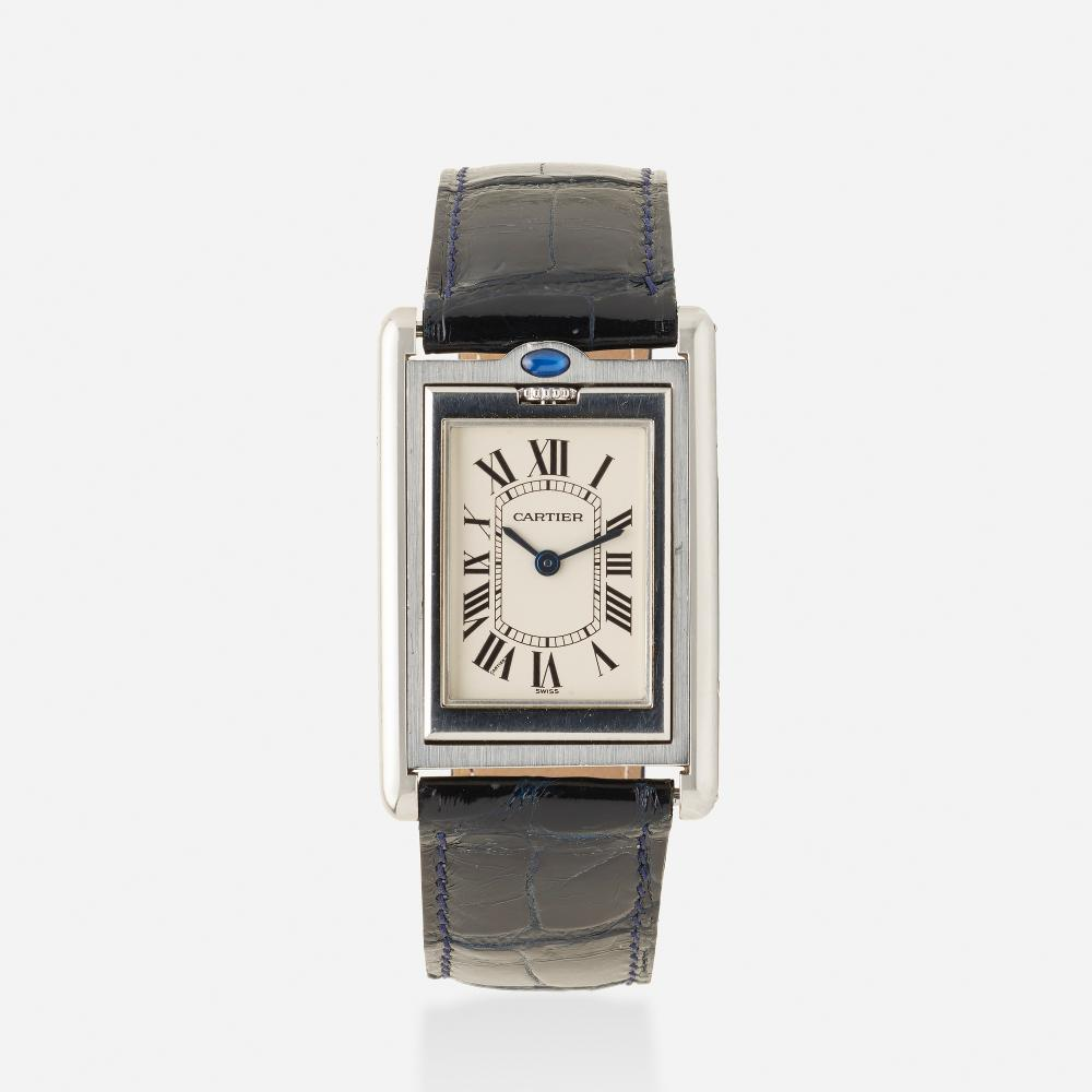 Cartier, 'Tank Basculante' stainless steel wristwatch, Ref. 2405