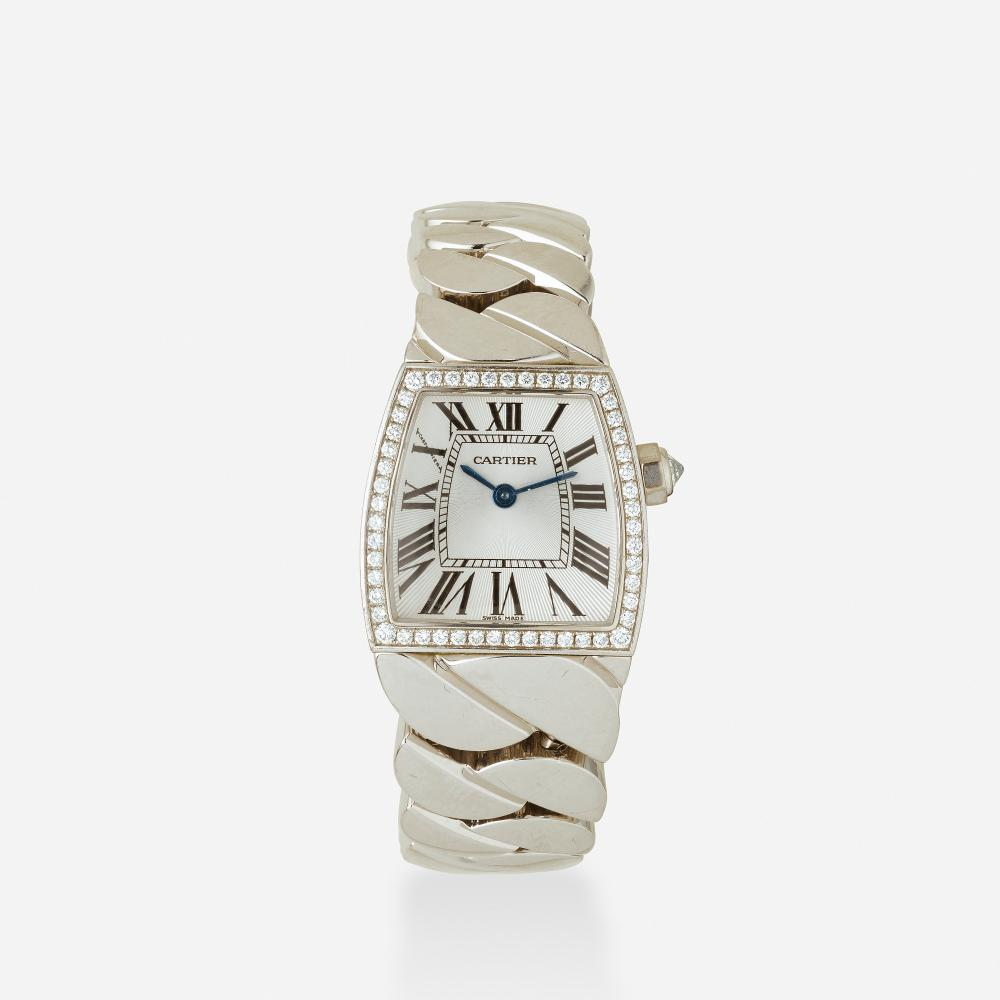 Cartier, 'La Dona' white gold and diamond wristwatch, Ref. 2905
