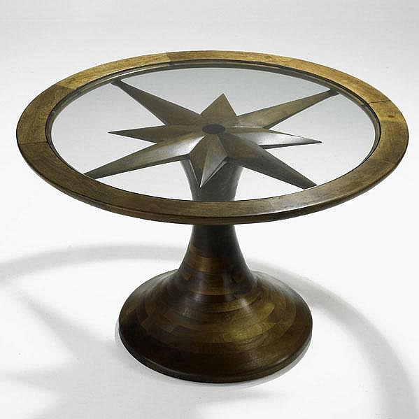 PHIL POWELL; Fine center table, USA, ca. 1963;