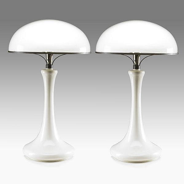 JOHN DICKINSON; Rare pair of table lamps (no.