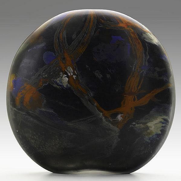 MICHELE BURATO; Hand blown glass vessel,
