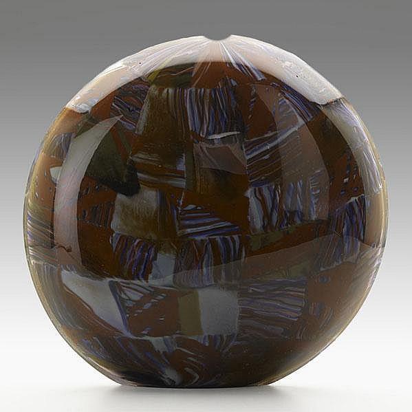 MICHELE BURATO; Hand blown glass vessel, ''Lente