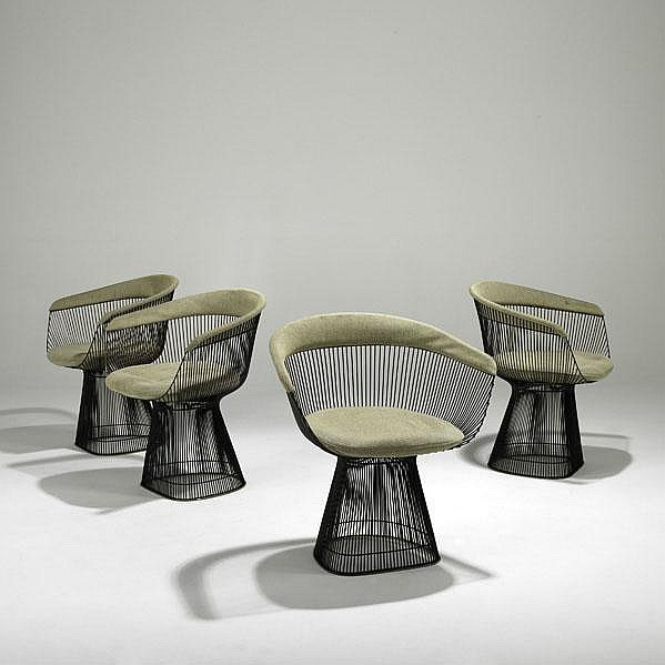 WARREN PLATNER; KNOLL ASSOCIATES; Set of four