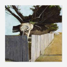 David Ligare, Fence with Trees and Rocks