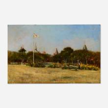 Nicholas Briganti, Park Scene with Flags