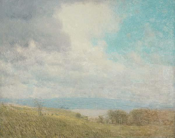Bolton Coit Brown (American, 1864-1936) Seneca Lake; Oil on canvas (framed); Signed; 27'' x 35''; Provenance: Private Collection, New Jersey