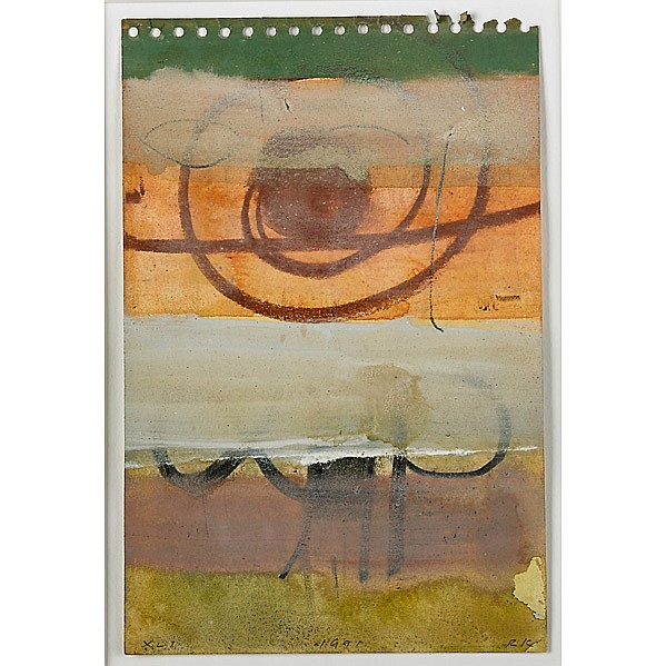 Robert Kelly (American, b. 1956); III and XLI, 1991; Two mixed media on paper (framed separately); Both signed, dated and titled; 9