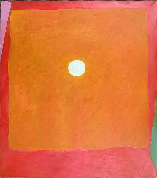 Rex Ashlock (American, 1919-1999) Orange Field, 1965; Oil on canvas; Signed and dated (verso); 80