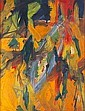 Elaine de Kooning (American 1920-1989) Untitled, oil on artist board, framed. Pencil signed E. de K., lower right. 19 1/2