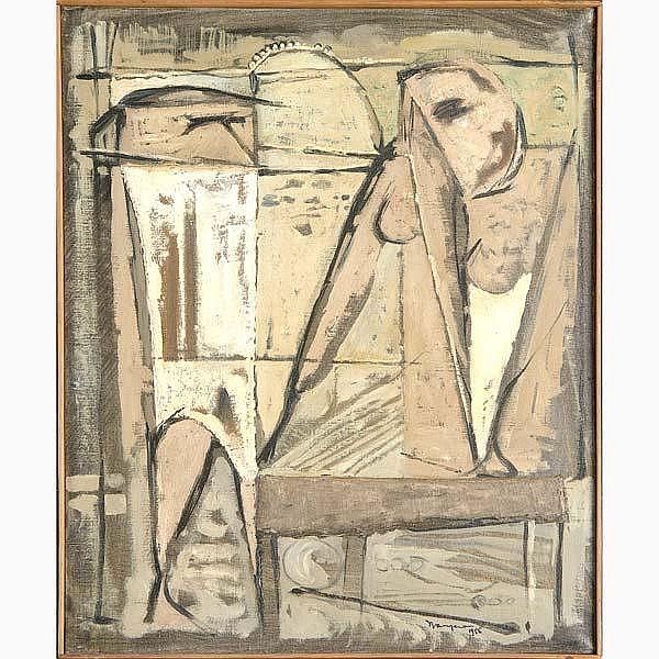 Carlo Nangeroni (American, b. 1922) Untitled, 1956, oil on canvas (framed). Signed and dated. Provenance: Private collection, Penn. 22