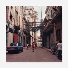 Carlos Garaicoa, Untitled (Women in street with scaffolding)