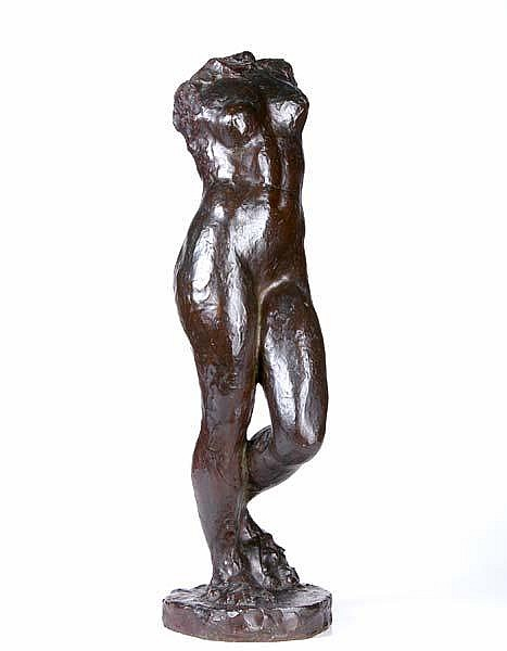 Berthold Nebel (Swiss American, 1899-1964) Untitled (Nude Torso); Bronze; Signed
