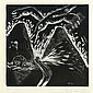 David Humphrey (American, b. 1955) Three works of art: Nocturne, 1984; Linocut; Signed, dated and numbered 1/15; 27 1/2