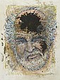 Robert Arneson (American, 1930-1992) Splat, 1981; Mixed media on paper (framed); Signed and dated; 44 1/2