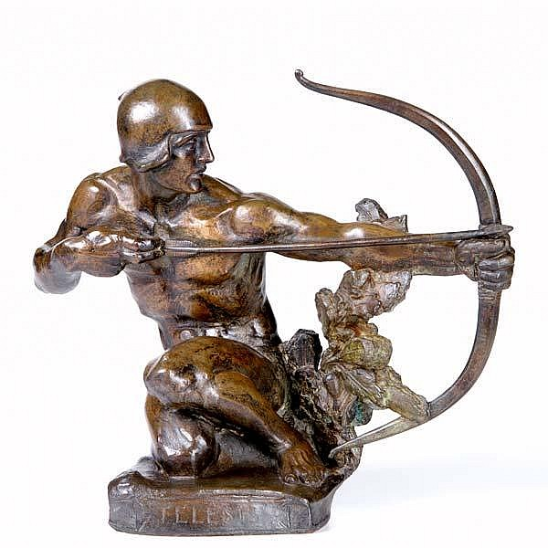 Albert Henry Atkins (American, 1899-1951) Telesis, 1914; Bronze; Signed and dated