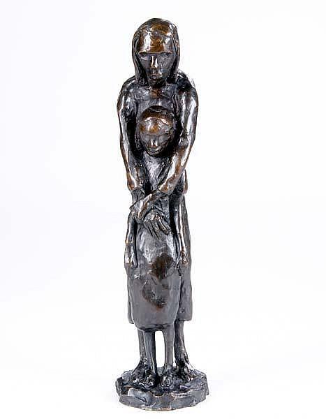 Doris Porter Caesar (American, 1892-1971) Hunger; Bronze; Signed (illegibly); 16 3/4